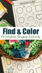 Find and Color Shapes Printable Sensory Bin Search