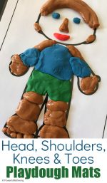 Head, Shoulders, Knees and Toes Playdough Mat Game