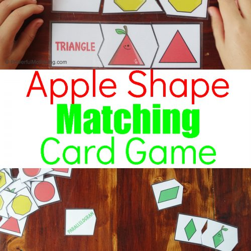 An engaging way to help teach kids about shapes and their names. This helps with visual ques and angles to help children identify shapes and their names.