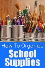 7 Tips for Organizing School Supplies