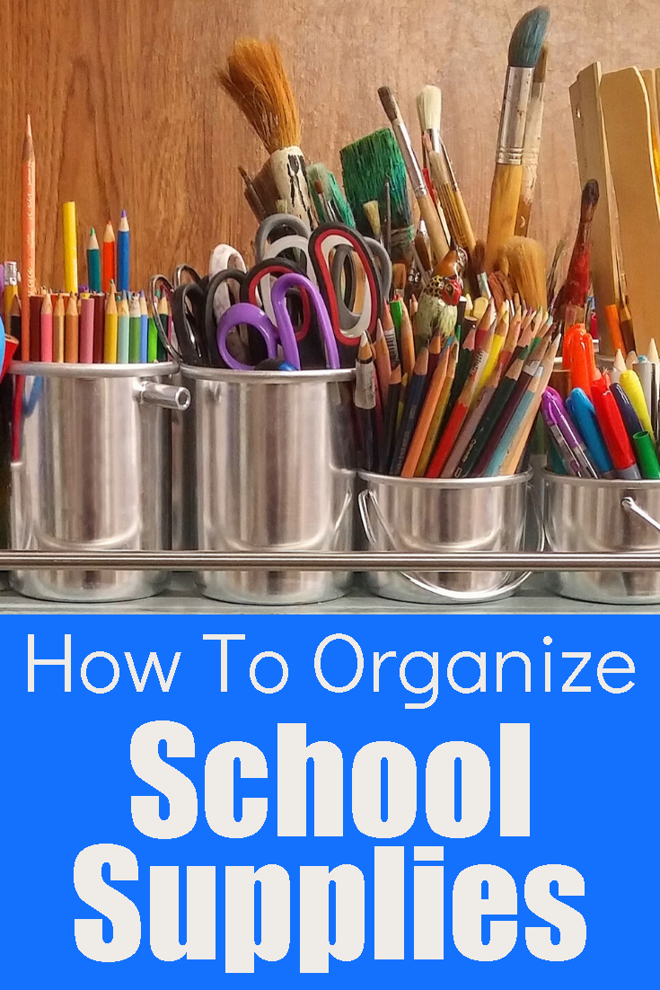 School supplies can easily take over your work space. These 7 easy tips can help you take control of your school room.