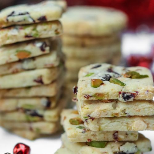 The perfect holiday cookie: Cherry and White Chocolate Pistachio Cookies. These are sweet, chewy, crunchy, melty plus sweet and salty.