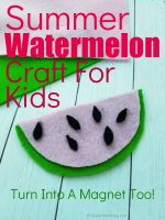Foam Watermelon Craft for Kids
