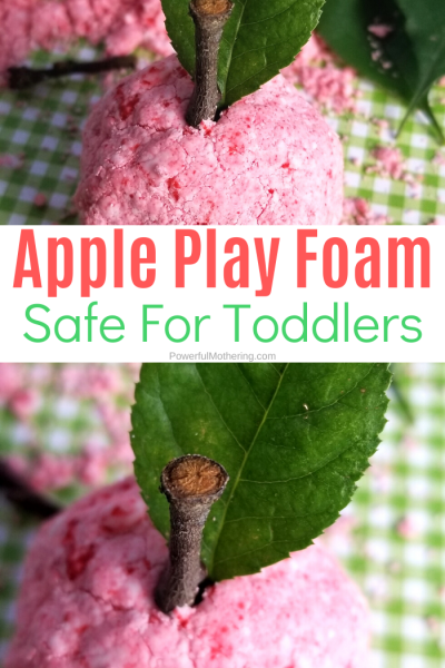 We have turned one of our favorite sensory dough recipes, a taste safe dough, into an apple version. This apple foam dough is perfect for fall, a nutrition unit, or just because.