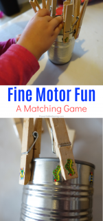 Fine Motor Matching Game For Kids