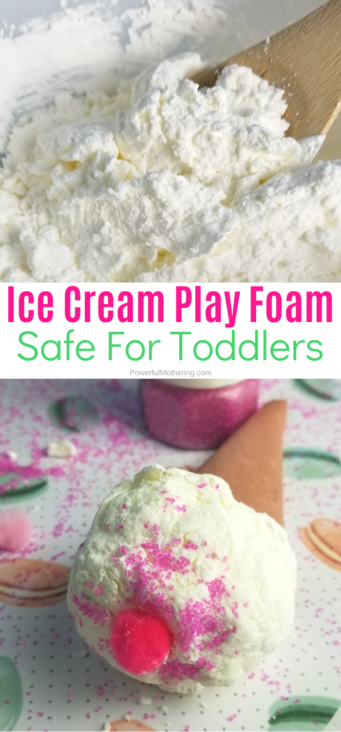 Ice Cream Play Foam Dough is a fun and creative sensory activity for children. They will explore, create and have fun for hours!