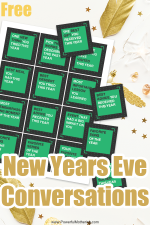 New Years Eve Conversation Cards