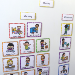 Visual Chore Chart Cards for children to help everyone stay consistent and motivate children to help with chores. Each card has visual que as well.