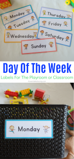 Day Of The Week Labels For Organization
