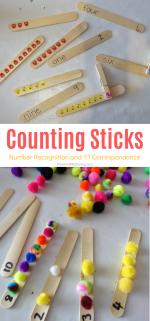 Super Fun Counting Stick Game For Preschoolers