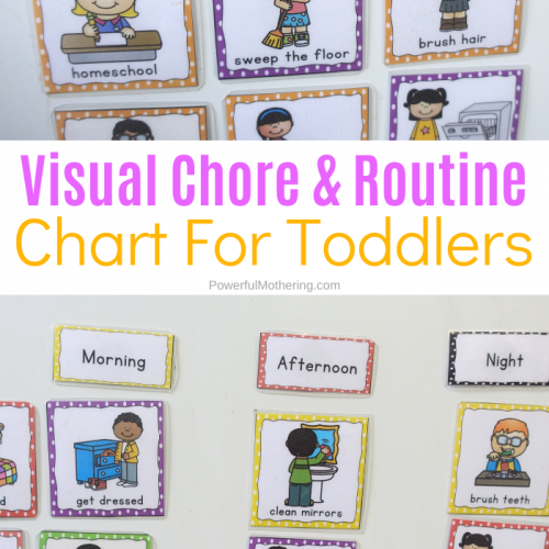 Visual Chore Chart Cards for children to help everyone stay consistent and motivate children to help with chores.