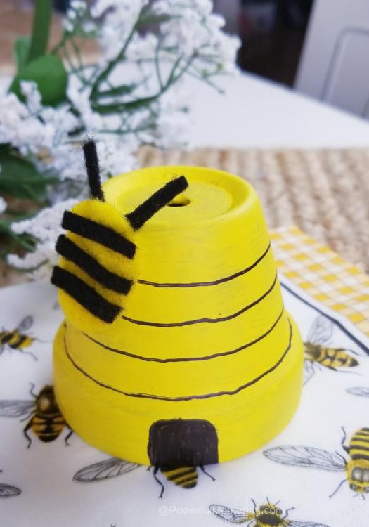 Flower Pot Beehive Craft
