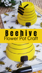 Flower Pot Beehive Craft