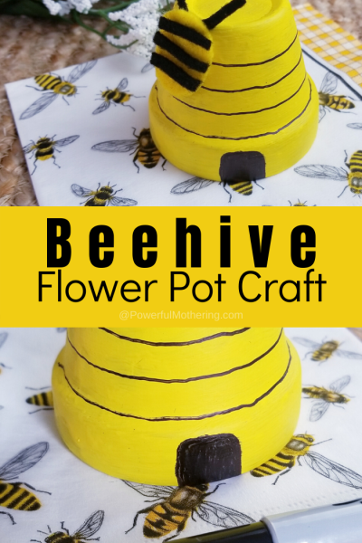 DIY Beehive Flower Pot Craft