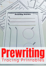 Prewriting Tracing Page Printables