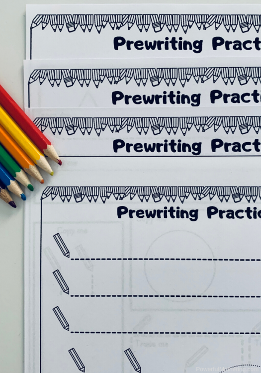 Prewriting Tracing Printables for children of all ages and stages of prewriting skills.
