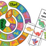 Free Printable Dinosaur Board Game With Dice