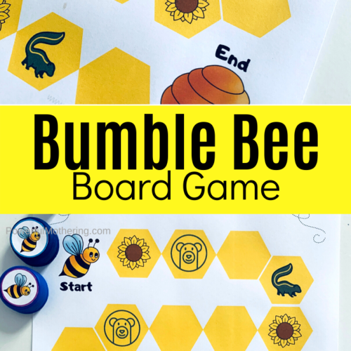 This fun Bumble Bee Board Game is a way to practice counting and HAVE FUN!