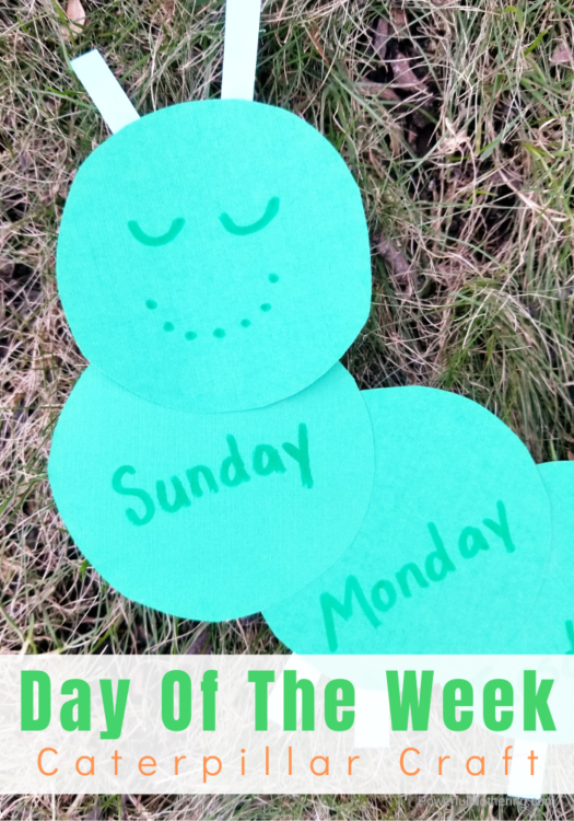 A fun, hands on Caterpillar craft to help kids learn and practice the days of the week in order.
