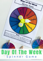 Day Of The Week Spinner Game