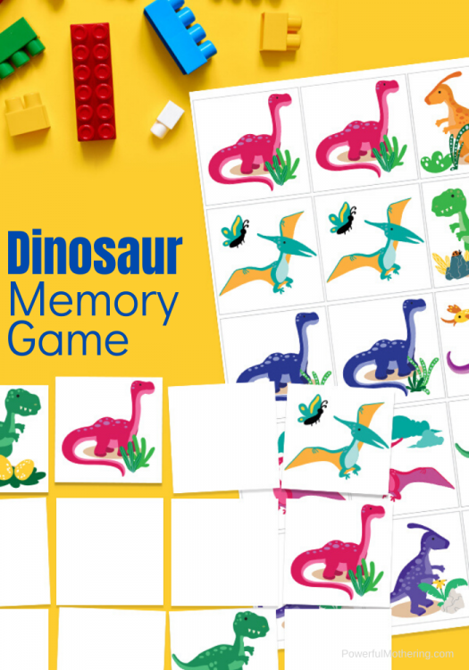 A printable matching game to help children with  memory skills