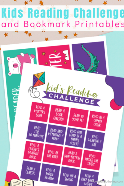 Printable Reading Challenge to help motivate kids to read in a fun and interesting way. This challenge adds variety and excitement to reading for kids who need a little push. Plus free printable bookmarks!