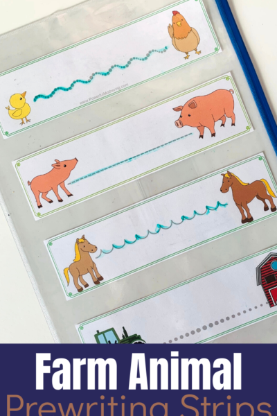 A fun way to help toddlers and preschoolers with prewriting skills necessary for future writing.