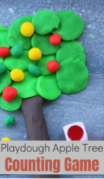 Apple Tree Playdough Counting Activity