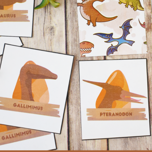 A low prep printable Dinosaur Matching Game that kids will love. Whether they are dinosaur obsessed or love matching games, this is for you!