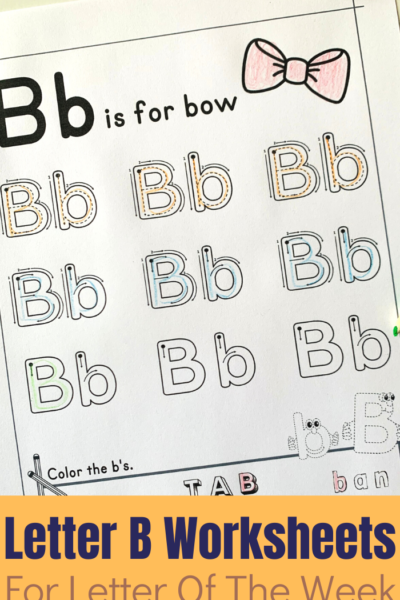 A printable set of a variety of activities centered around the Letter B to help children learn to read and write the letter.