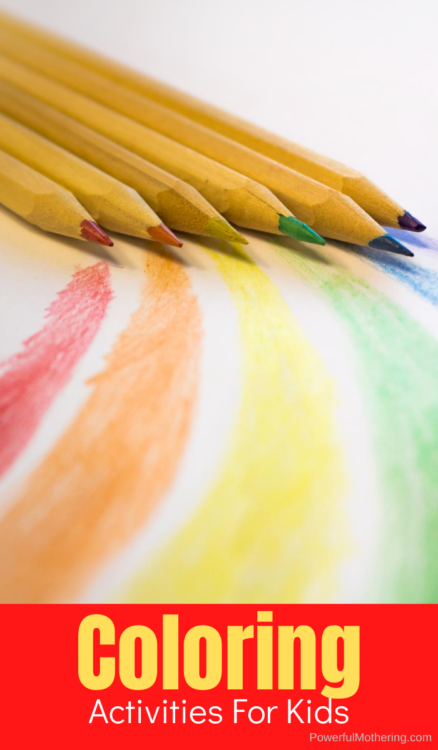 Coloring is one of the first arts and crafts activities that kids do but that doesn't mean they won't love it for years to come. These coloring activities as super fun for kids of all ages!