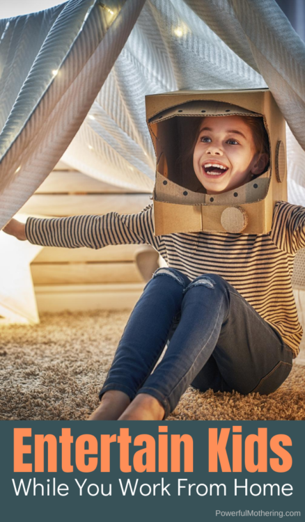 Working from home can be difficult when children are around, but these tips can help keep them entertained while you work.