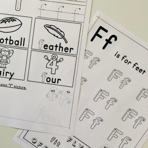 Printables to help children learn the letter F. This will help with letter identification, letter formation and more.