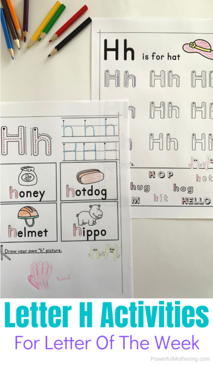 Printable letter tracing worksheets for the letter H. Help kids practice letter identification as well as writing. #lettertracing #tracingworksheets #alphabetactivities