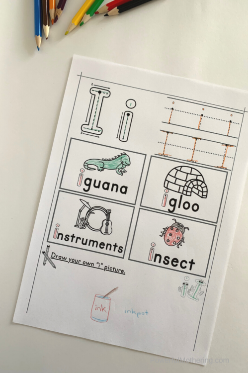 Simple printable letter tracing worksheets for the letter I. These are excellent for beginning sounds, letter identification and letter formation.
