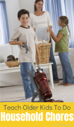 How To Teach Older Kids To Do Household Chores