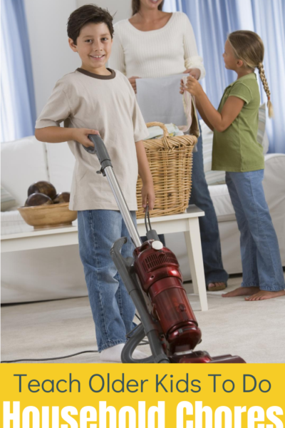 Older kids can do household chores, you might just need to encourage them and teach them a bit. These tips will be helpful!