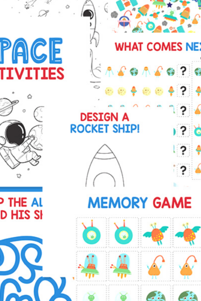 Fun Printable Space Activities that help children practice and master skills all masked by fun.