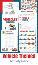 Free Printable Vehicle Activities For Kids