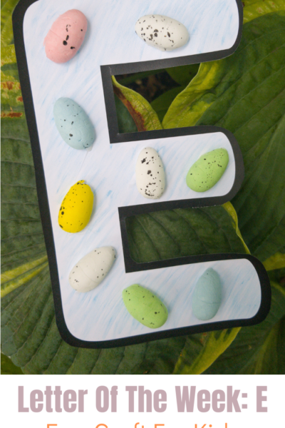 This E is for eggs craft is the perfect alphabet craft for kids! This craft helps bring the letter E to life in a way that is engaging and fun.