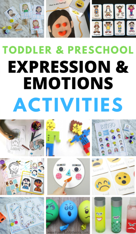 Simple, fun and free activities for preschoolers and toddlers to learn all about emotions and expressions!