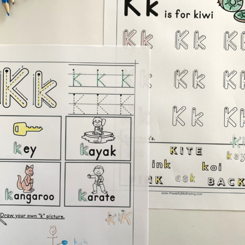 Printables to help children learn the letter K. This will help with letter identification, letter formation and more.