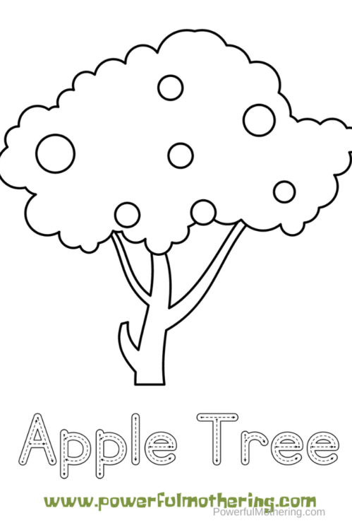 Free Printable coloring and tracing activities for preschoolers that they will love! These apple activities will help kids with prewriting skills.