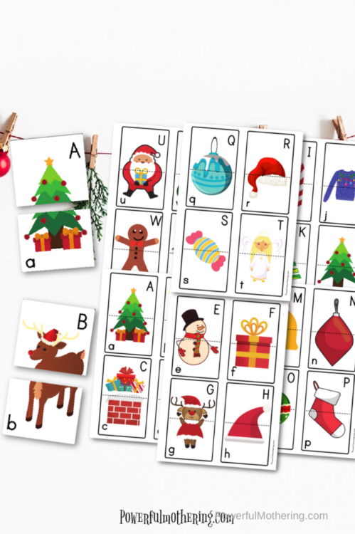 Christmas Letter Matching Printable game that preschoolers will love! Help with letter recognition and upper and lowercase matching.