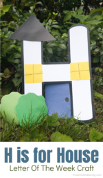 Letter H Craft: House