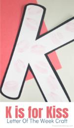 Letter K Craft: Kiss