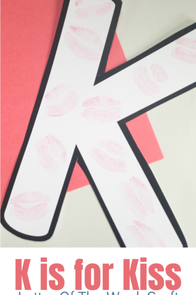 k is for Kiss. A fun craft for preschoolers or Kindergarteners for a Letter Of The Week for the letter K.
