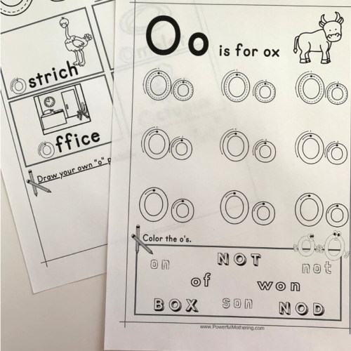 Free Printable Letter O Tracing Worksheets that will help children with the letter O.