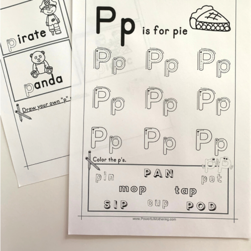 Free Printable Letter P Tracing Worksheets that will help children with the letter P.