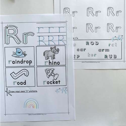Free Printable Letter R Tracing Worksheets that will help children with the letter R.